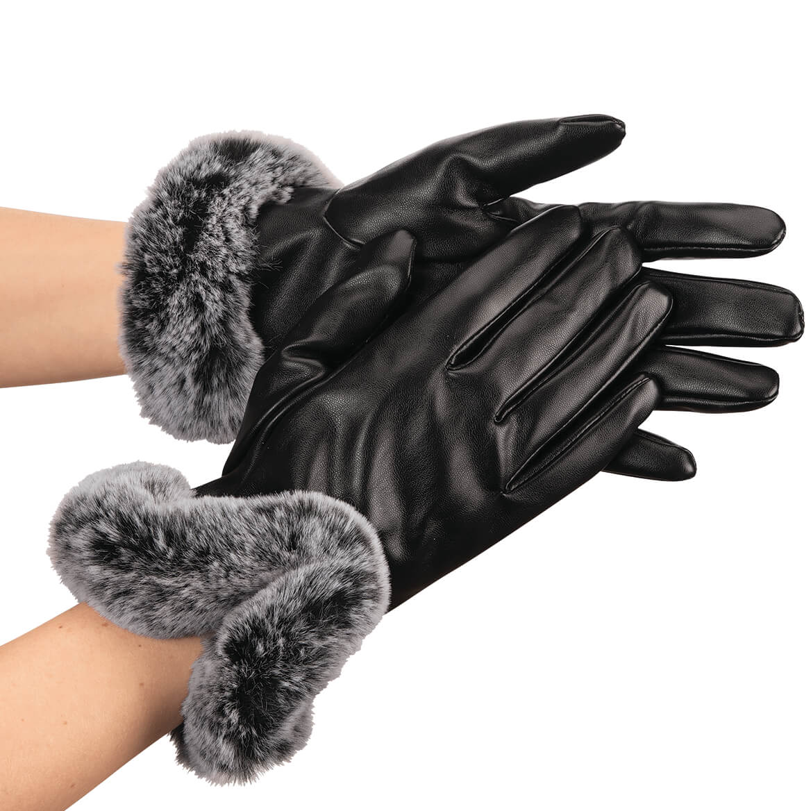 Lambskin Faux Fur Gloves-368099
