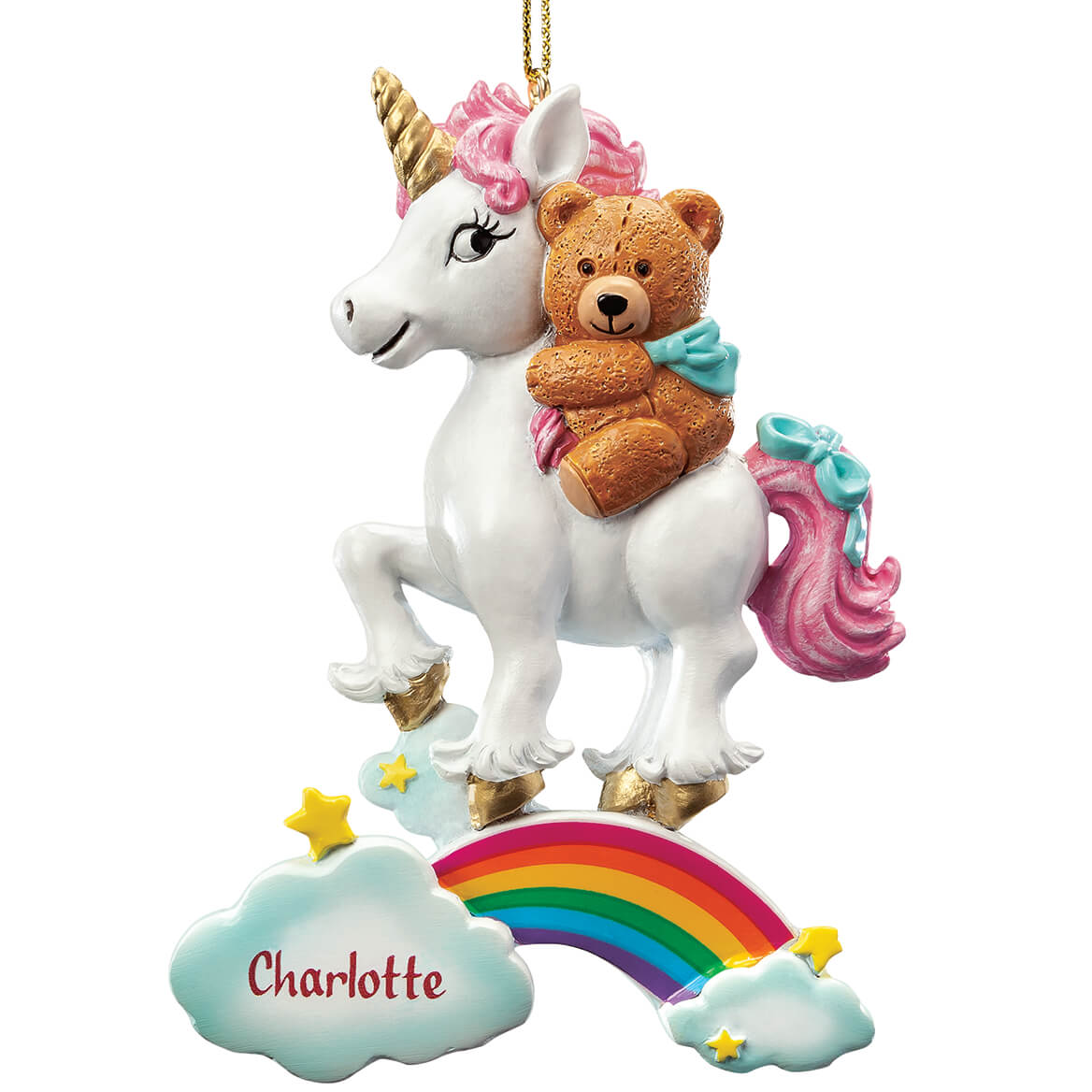 Personalized Teddy Bear & Unicorn Ornament-368110