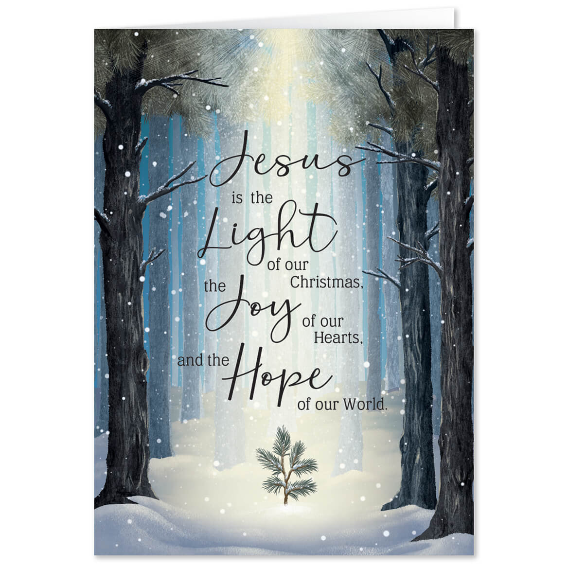 Personalized He is the Light Christmas Card Set of 20-368237