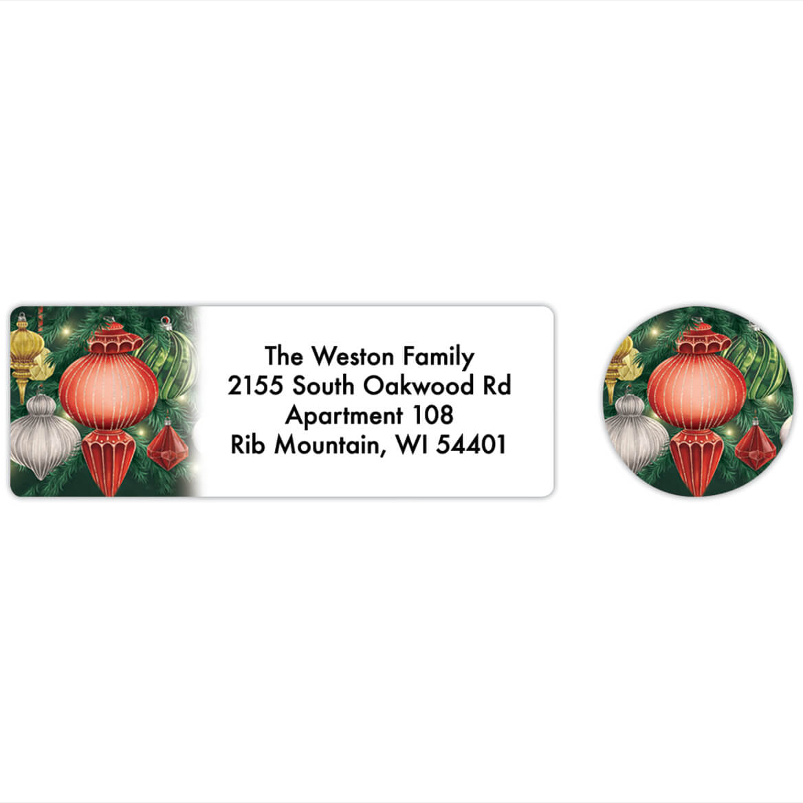 Personalized Twinkling Ornaments Labels & Seals 20-368270