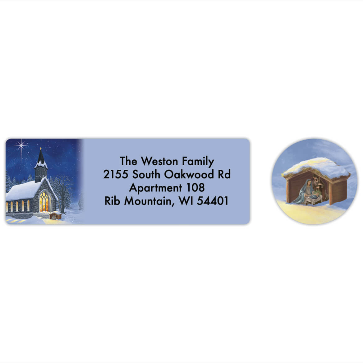 Personalized Midnight Chapel Labels & Seals 20-368276