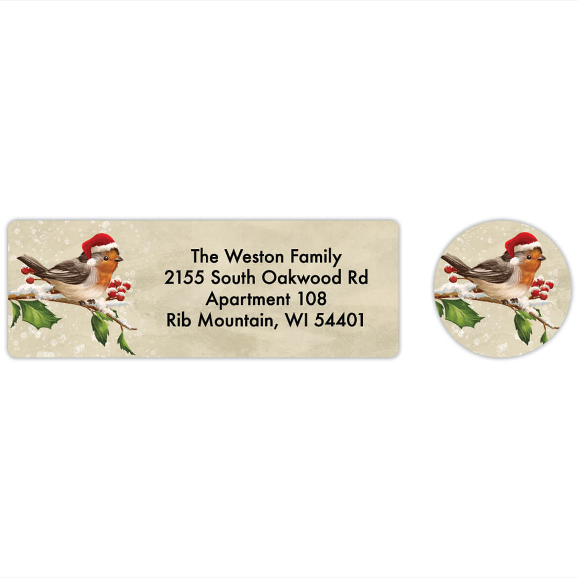 Personalized Birds with Hats Labels & Seals 20-368285