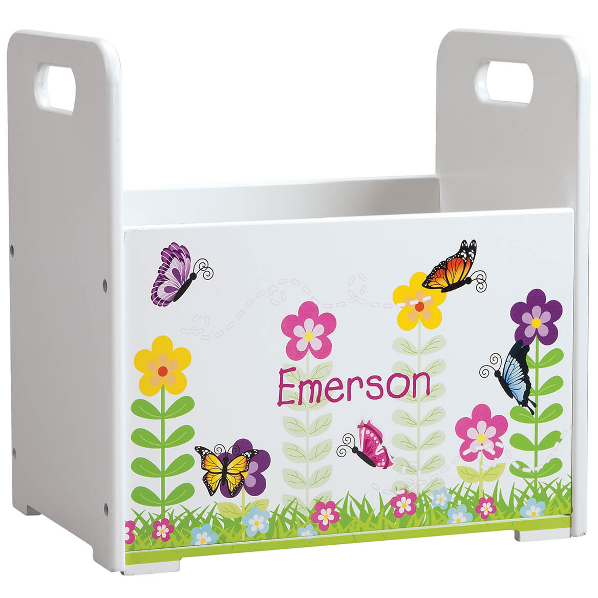 Personalized Flowers & Butterflies Book Caddy-368441