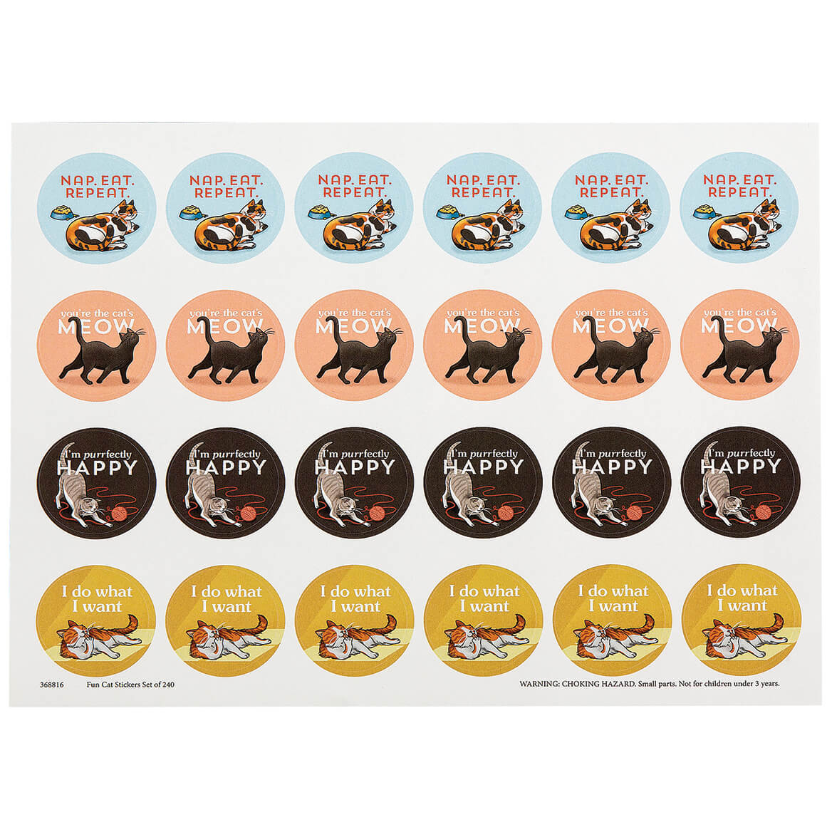 Fun Cats Stickers Set of 240-368816