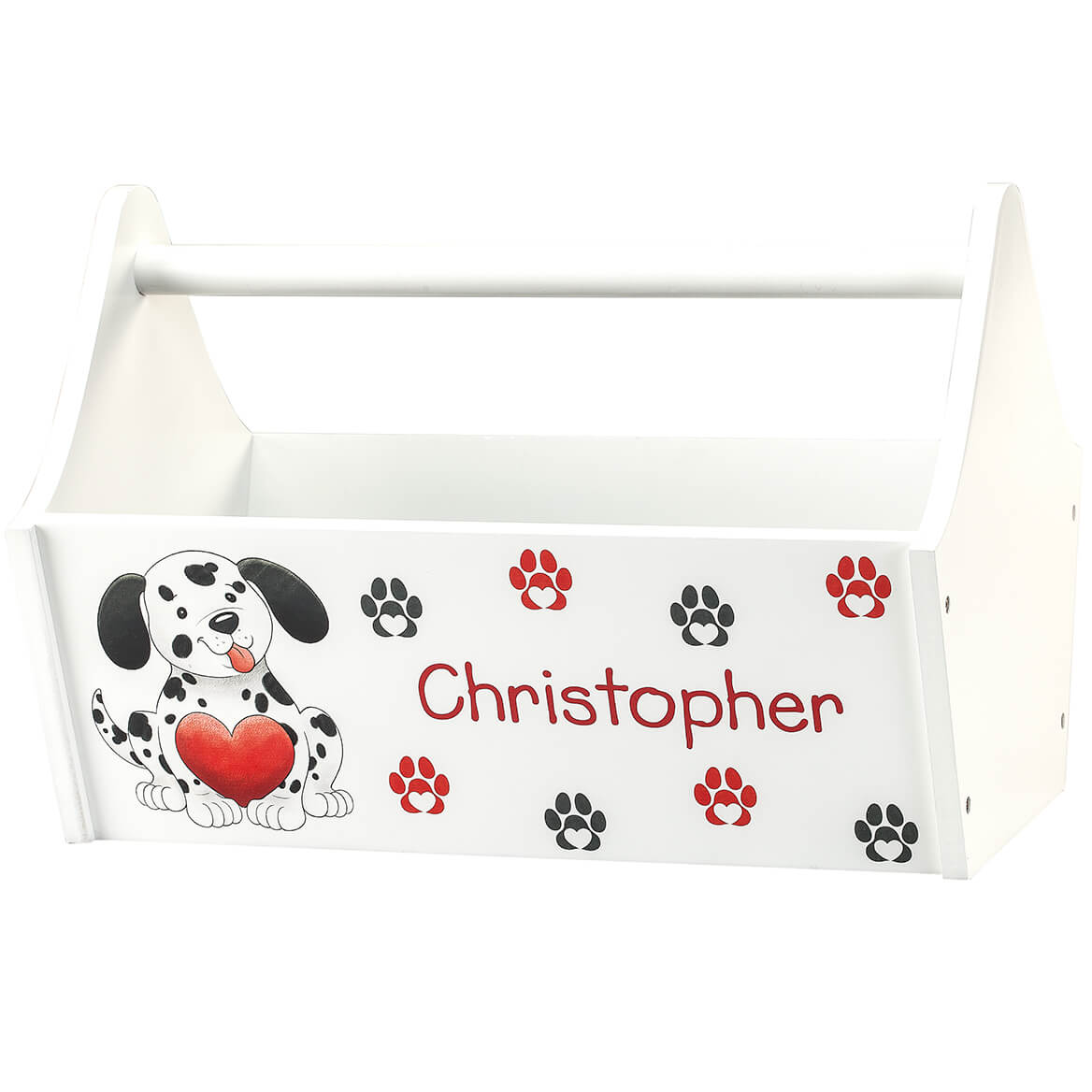 Personalized Puppy Hearts Toy Caddy-368829