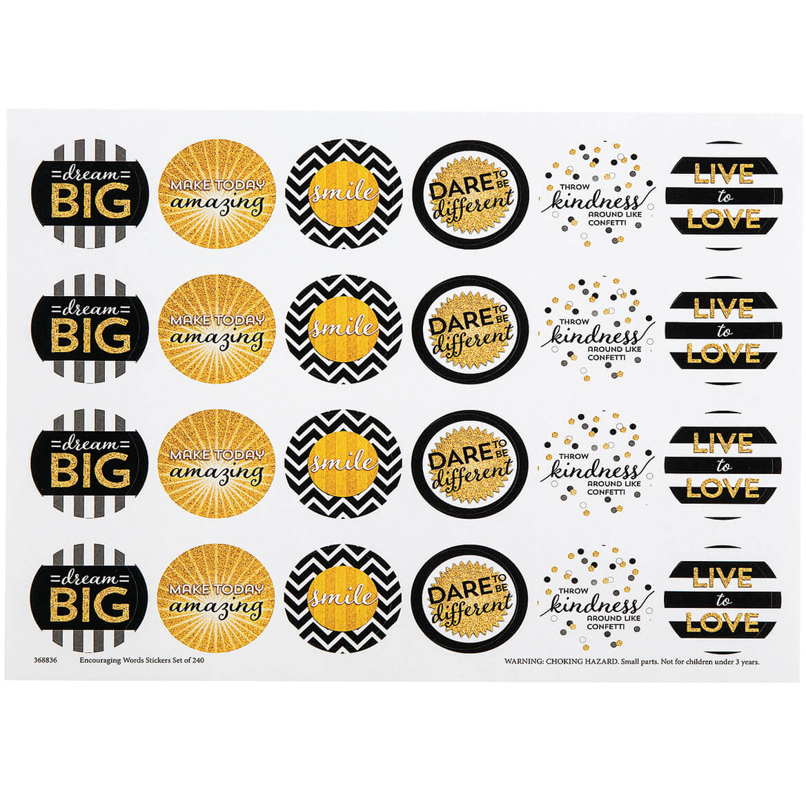 Encouraging Words Stickers Set of 240-368836
