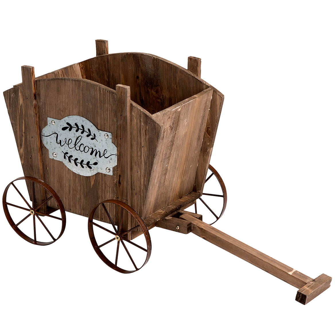 Welcome Wagon Wooden Planter Box-368961