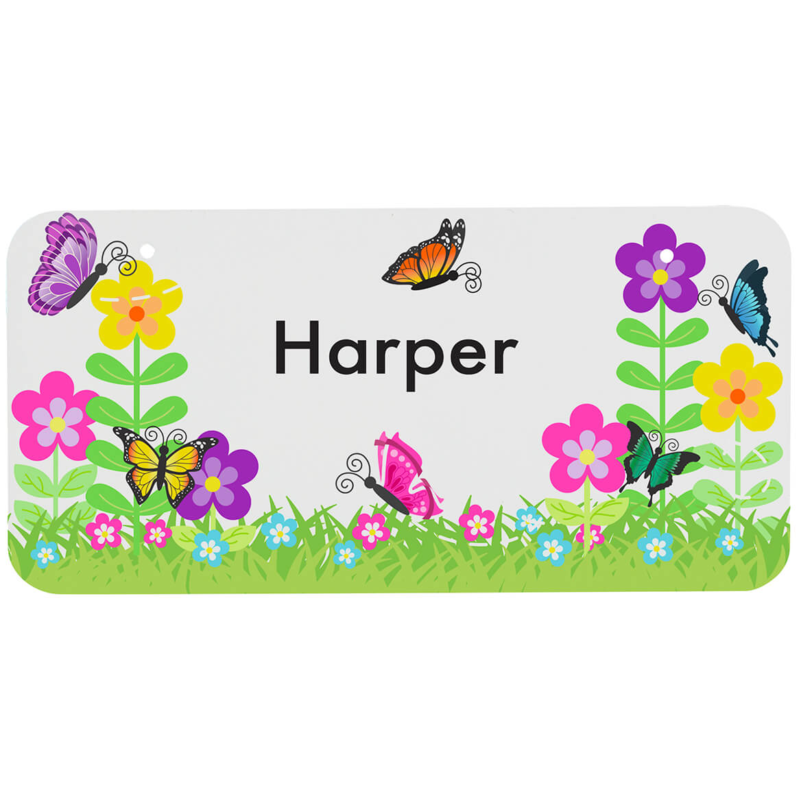 """Personalized Flowers License Plate, 3"""" x 6""""-368975"""