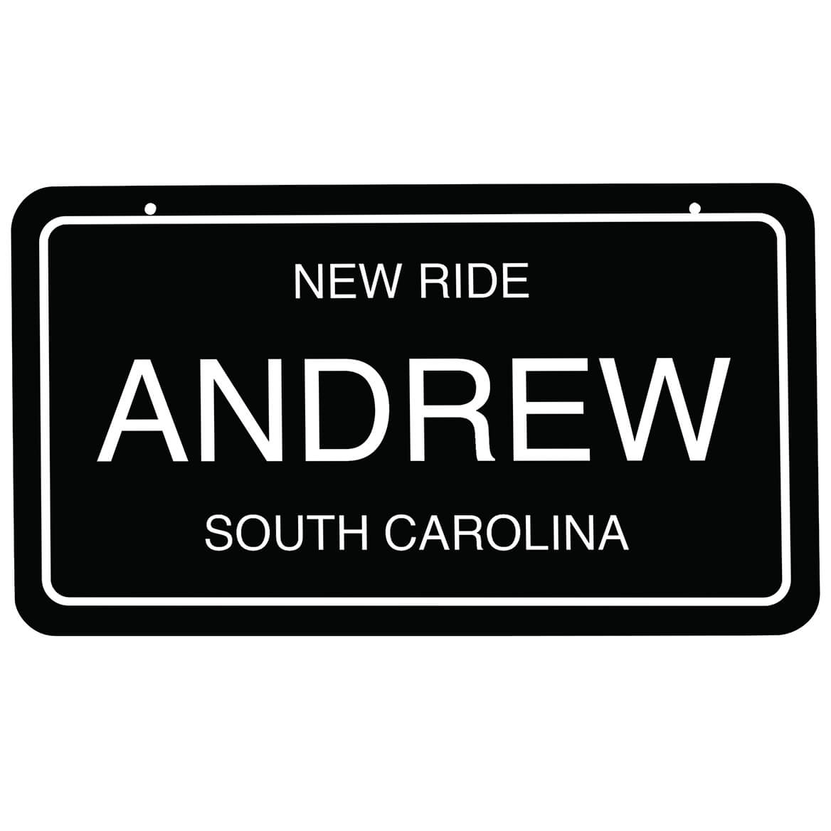 """Personalized Novelty License Plate, 4"""" x 7""""-368985"""