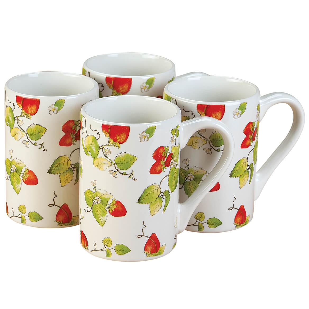 Strawberry Chintz Mugs set of 4 by William Roberts-369000