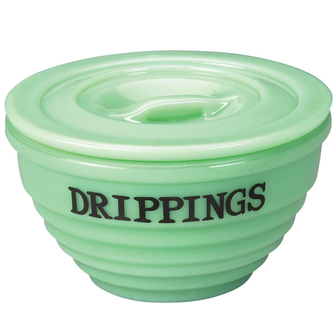 Drippings Jadite Bowl with Lid by Home Marketplace-369170