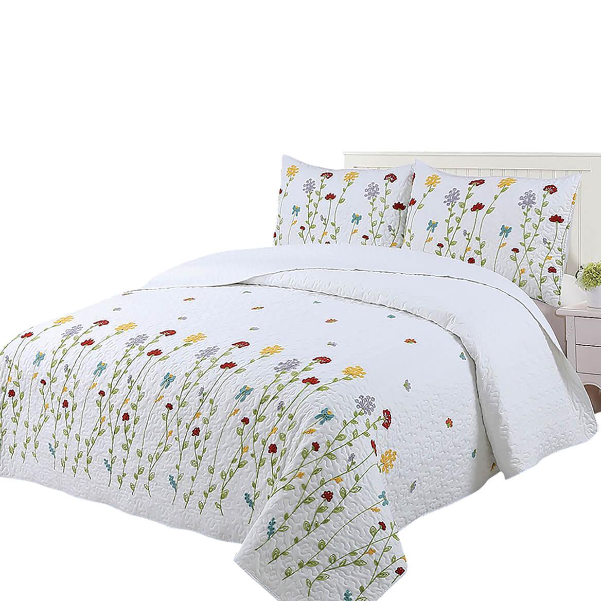 Wild Flowers Embroidered Bedspread Set by OakRidge®-369226