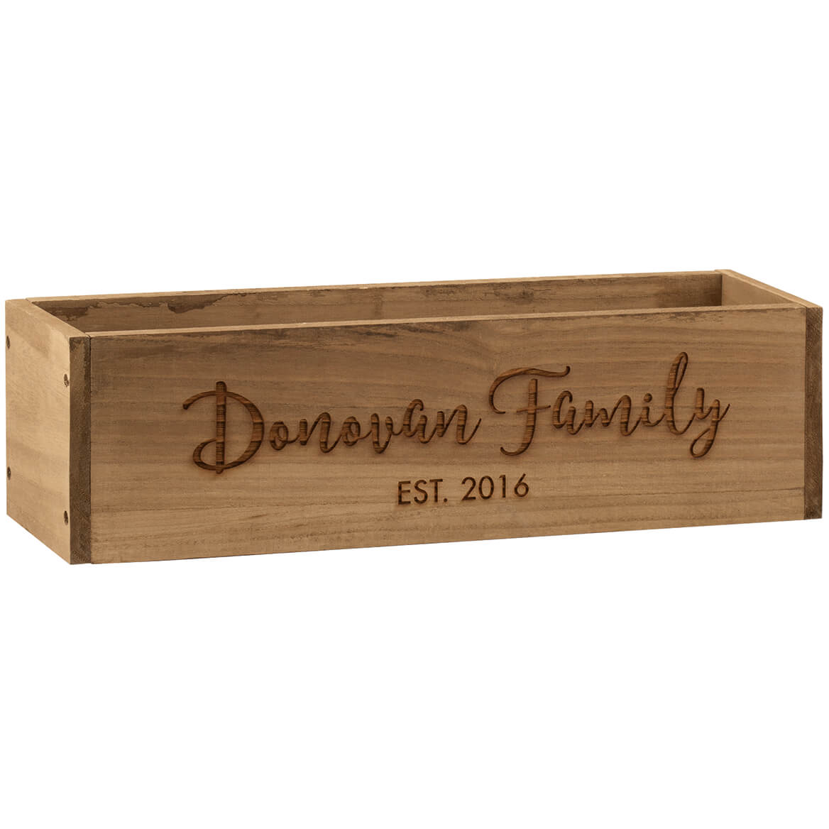 Personalized Wooden Planter Box, Family Name with Year-369251
