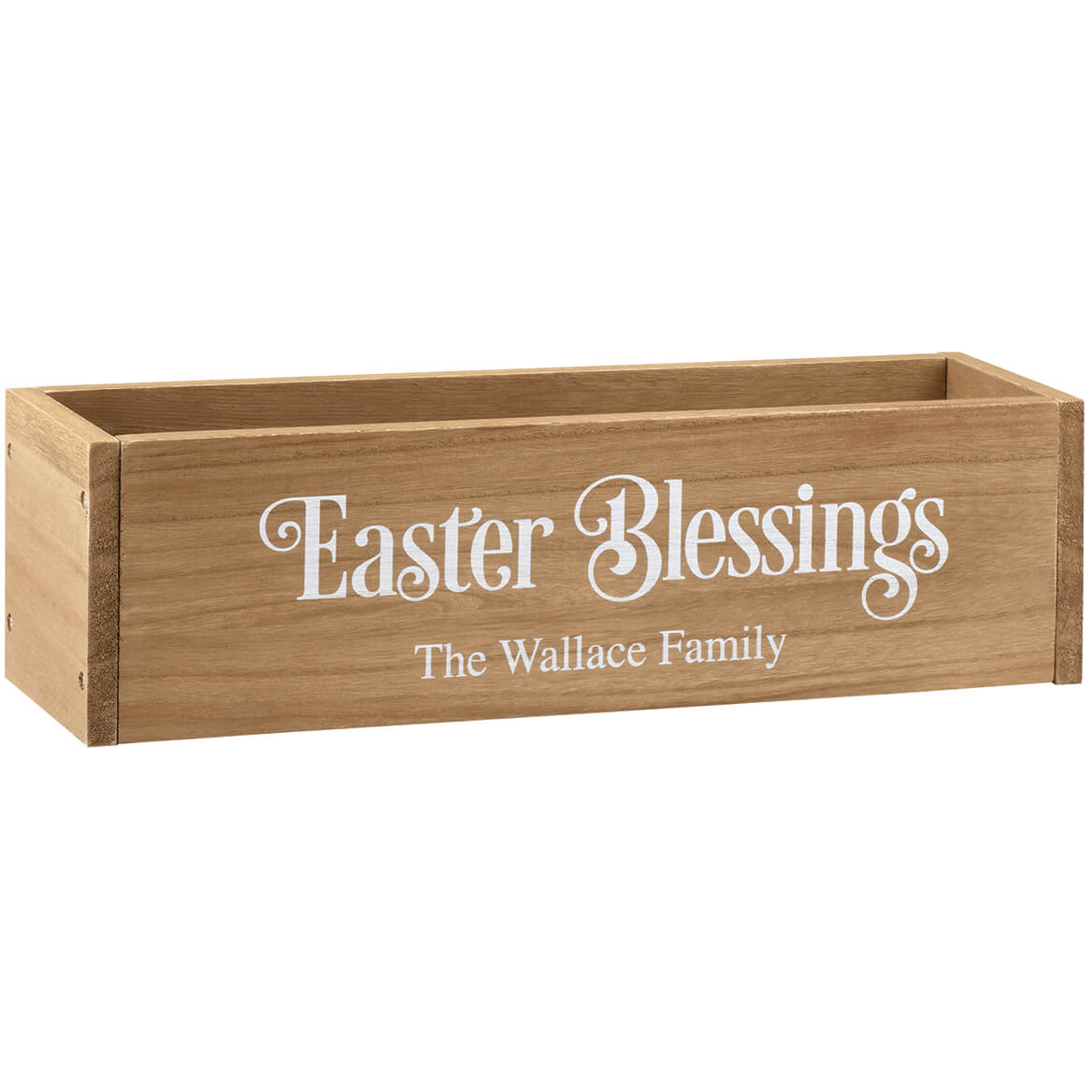 Personalized Wooden Planter Box, Easter Blessings-369258