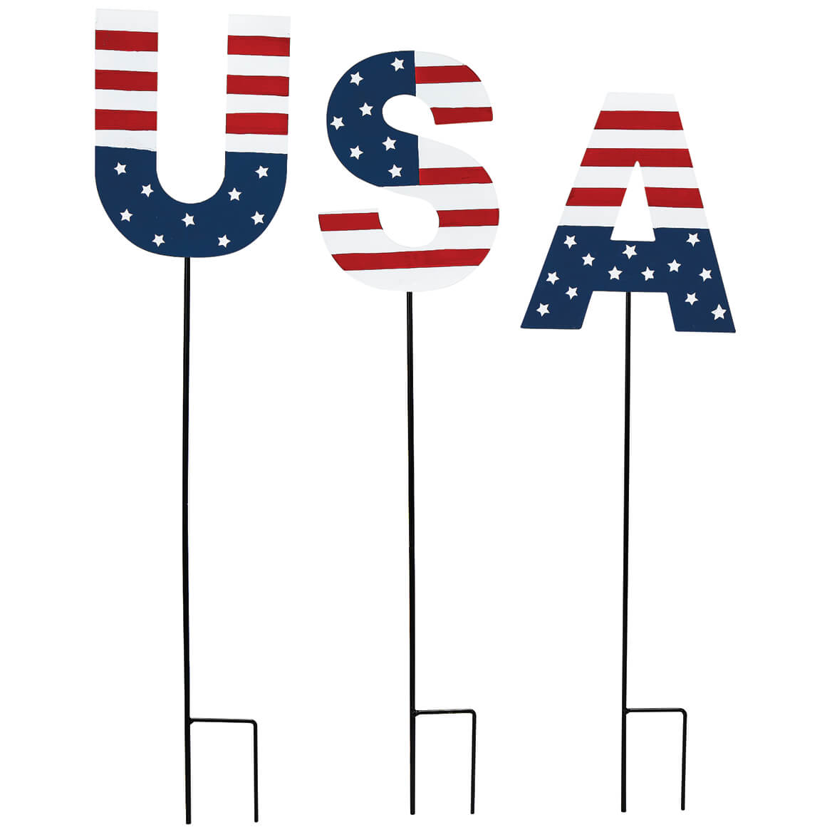 Metal USA Stakes, Set of 3 by Fox River™ Creations-369397