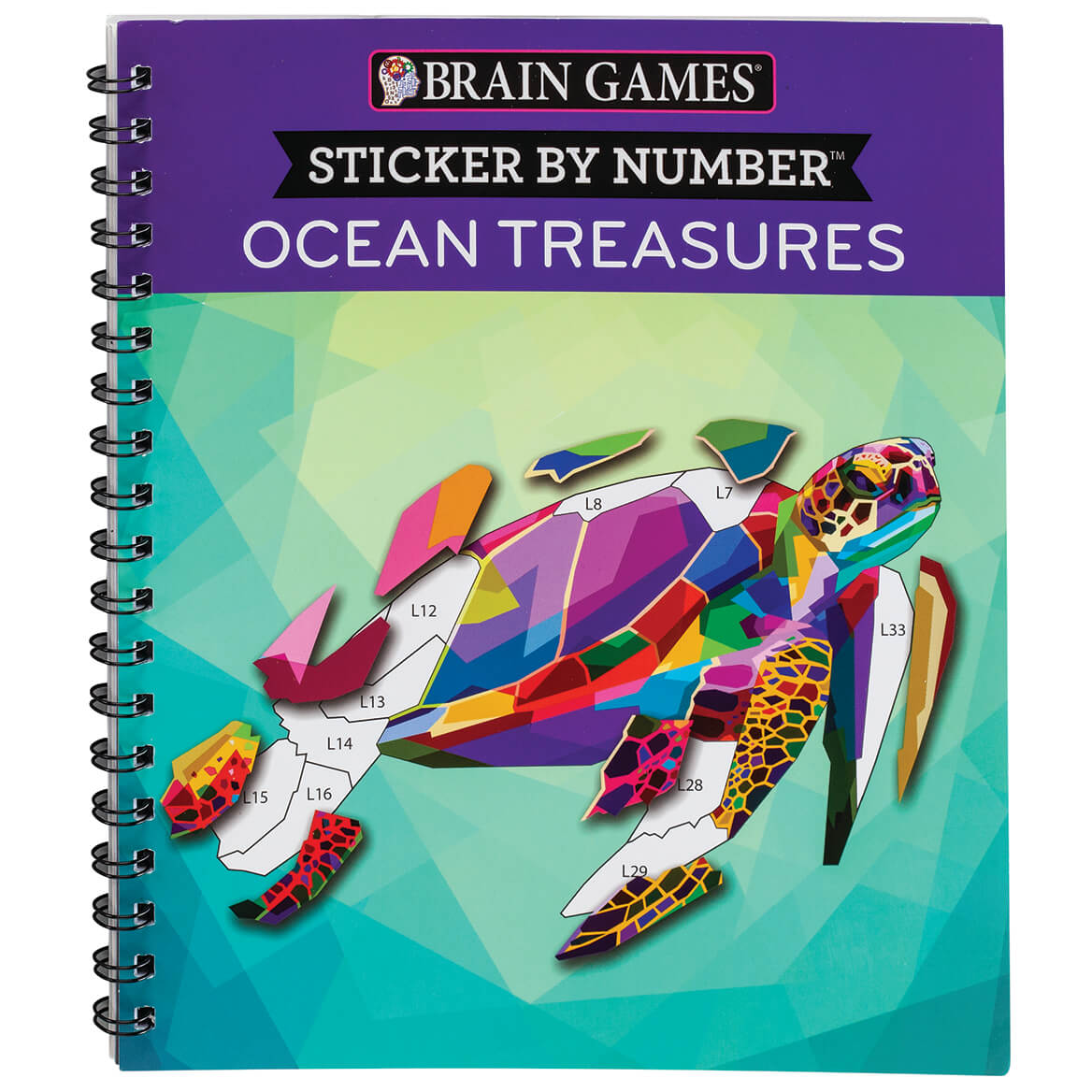 Brain Games® Sticker By Number Ocean Treasures-369624