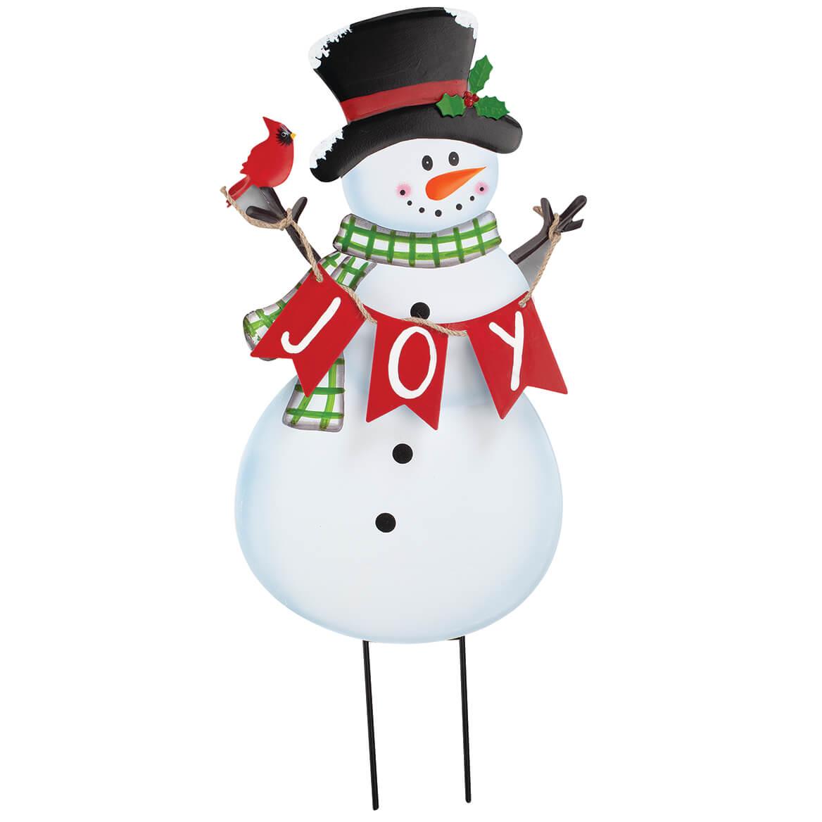 Metal JOY Snowman Yard Stake by Fox River™ Creations-369637