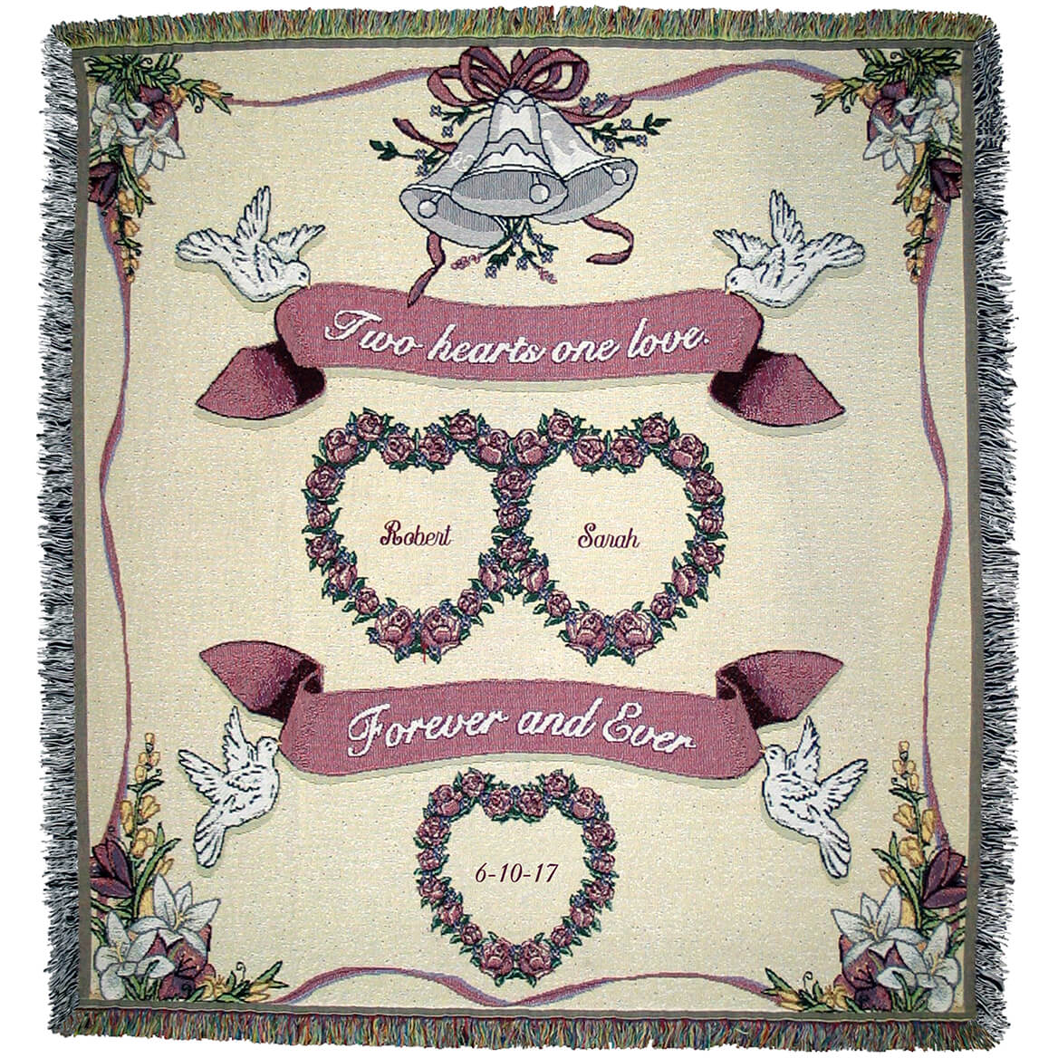 Personalized Wedding/Anniversary Afghan-369650