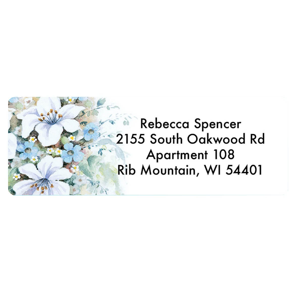 Bible with Flowers Address Labels and Seals set of 20-369753