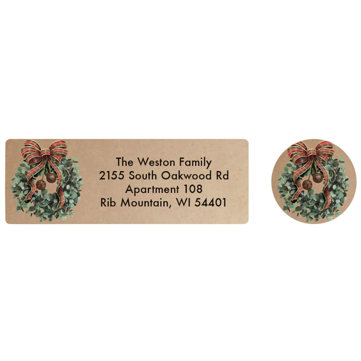 Personalized Vintage Christmas Labels and Seals 20-370161