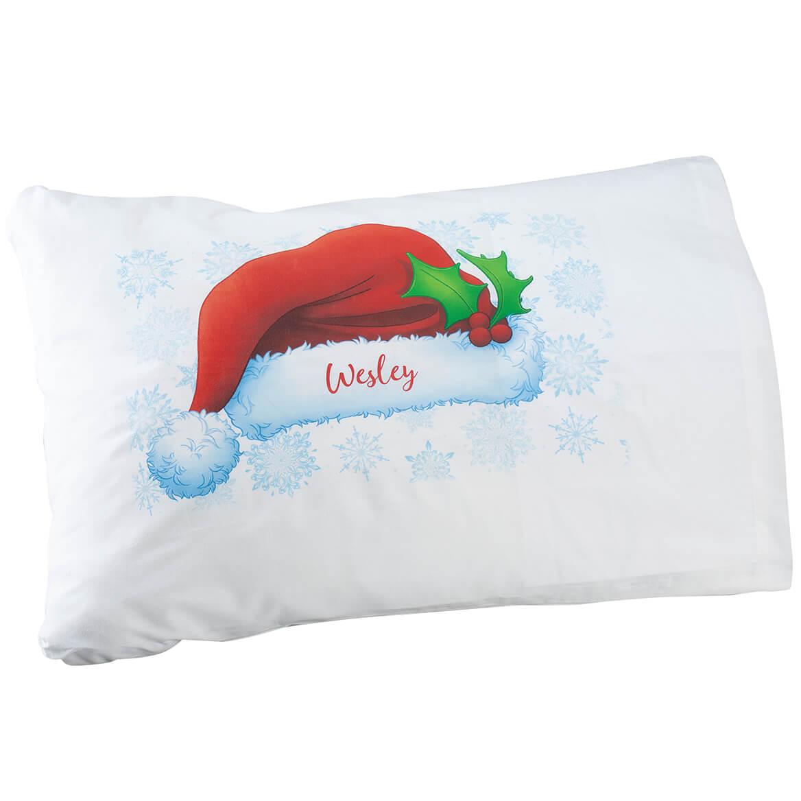 Personalized Santa Hat 'Selfie' Pillow Case-370355