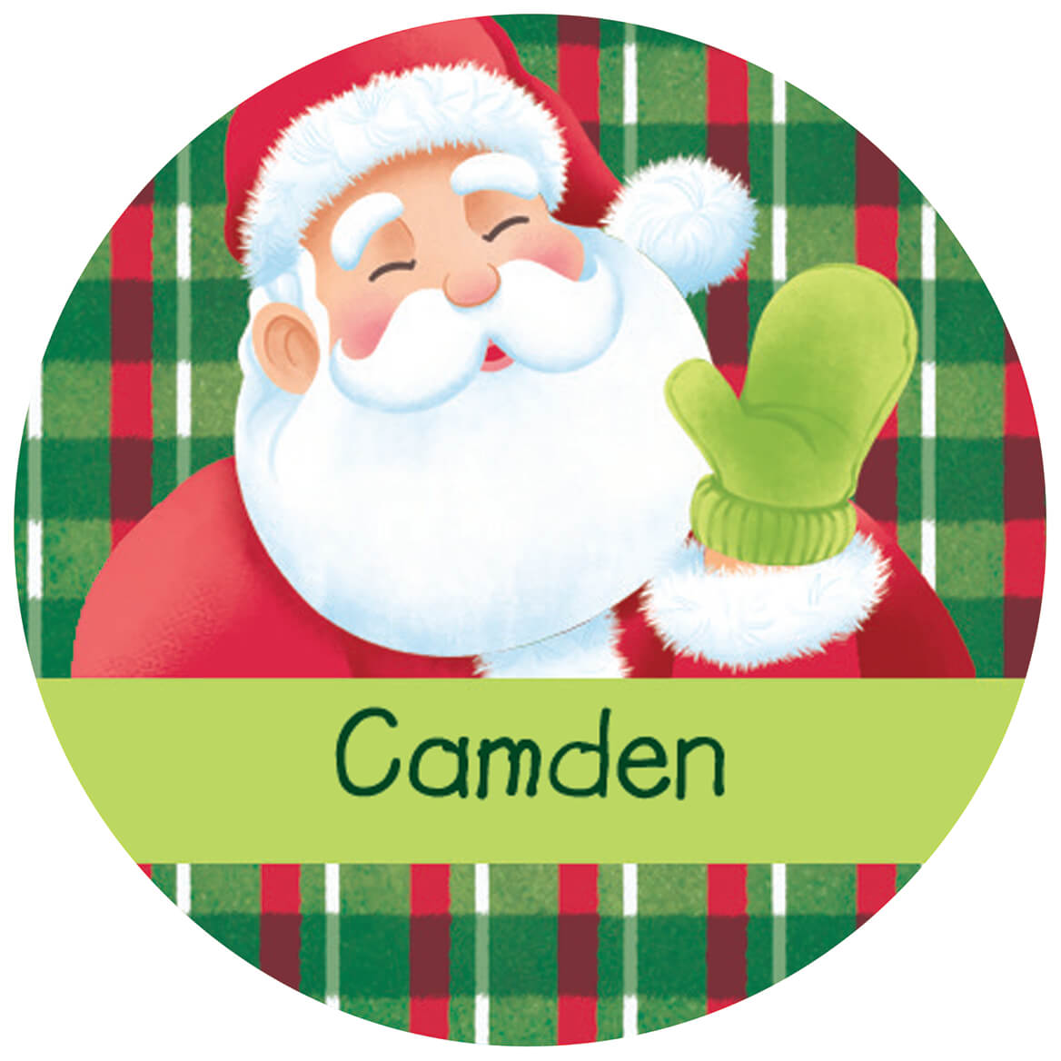 Set of 24 Santa Stickers Jolly Santa Claus Personalized Christmas Gift Tags