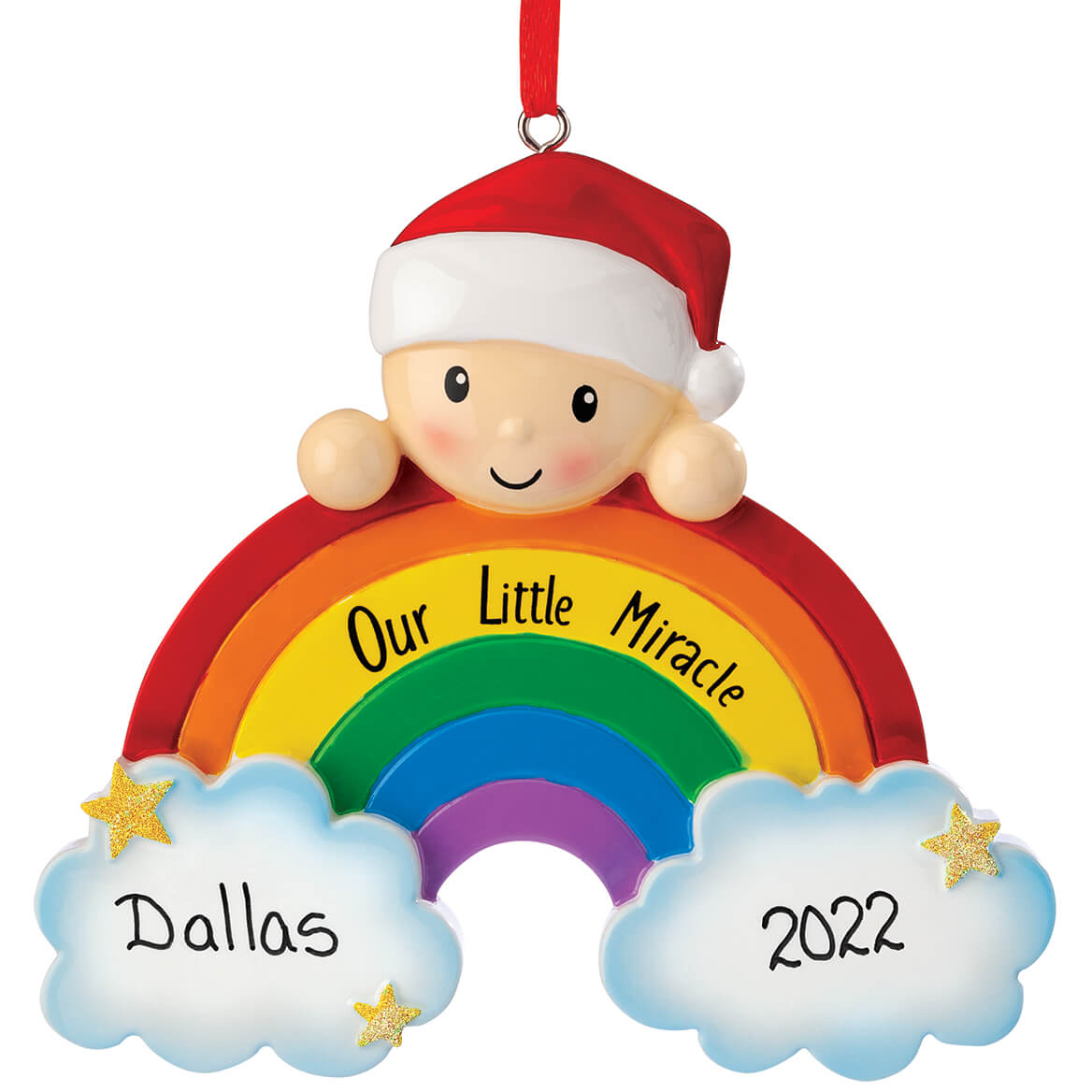 Personalized Rainbow Baby Ornament-370431