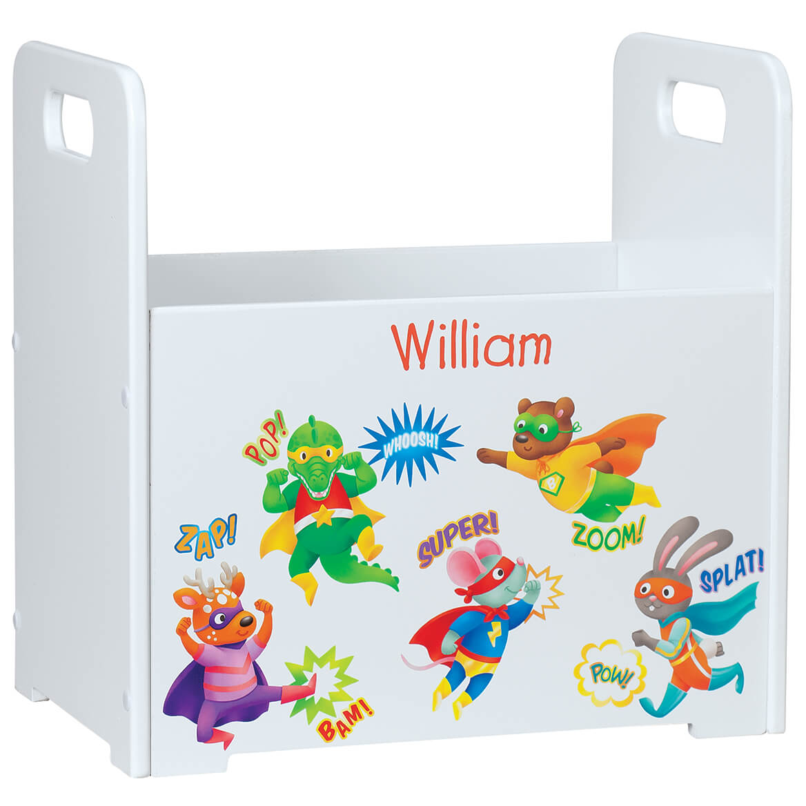 Personalized Superheroes Book Caddy-370500