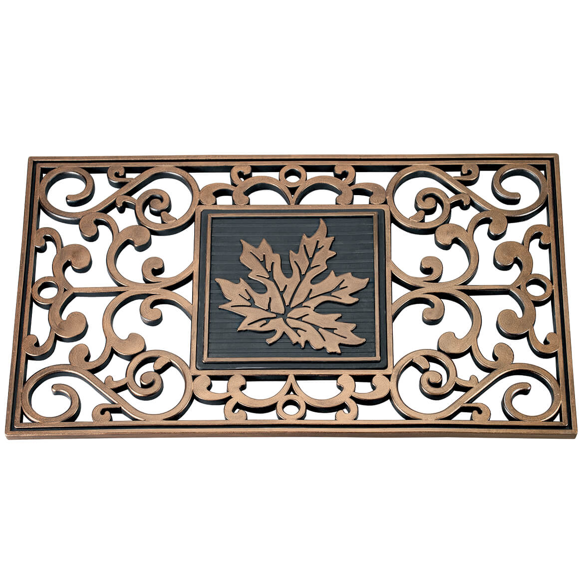 Hide A Key Doormat with Leaf Insert-370529