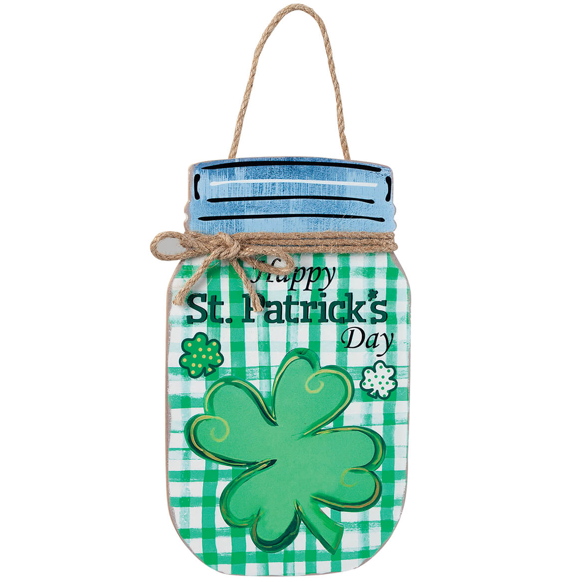St. Patrick's Day Mason Jar Wall Hanging by Holiday Peak™-370655