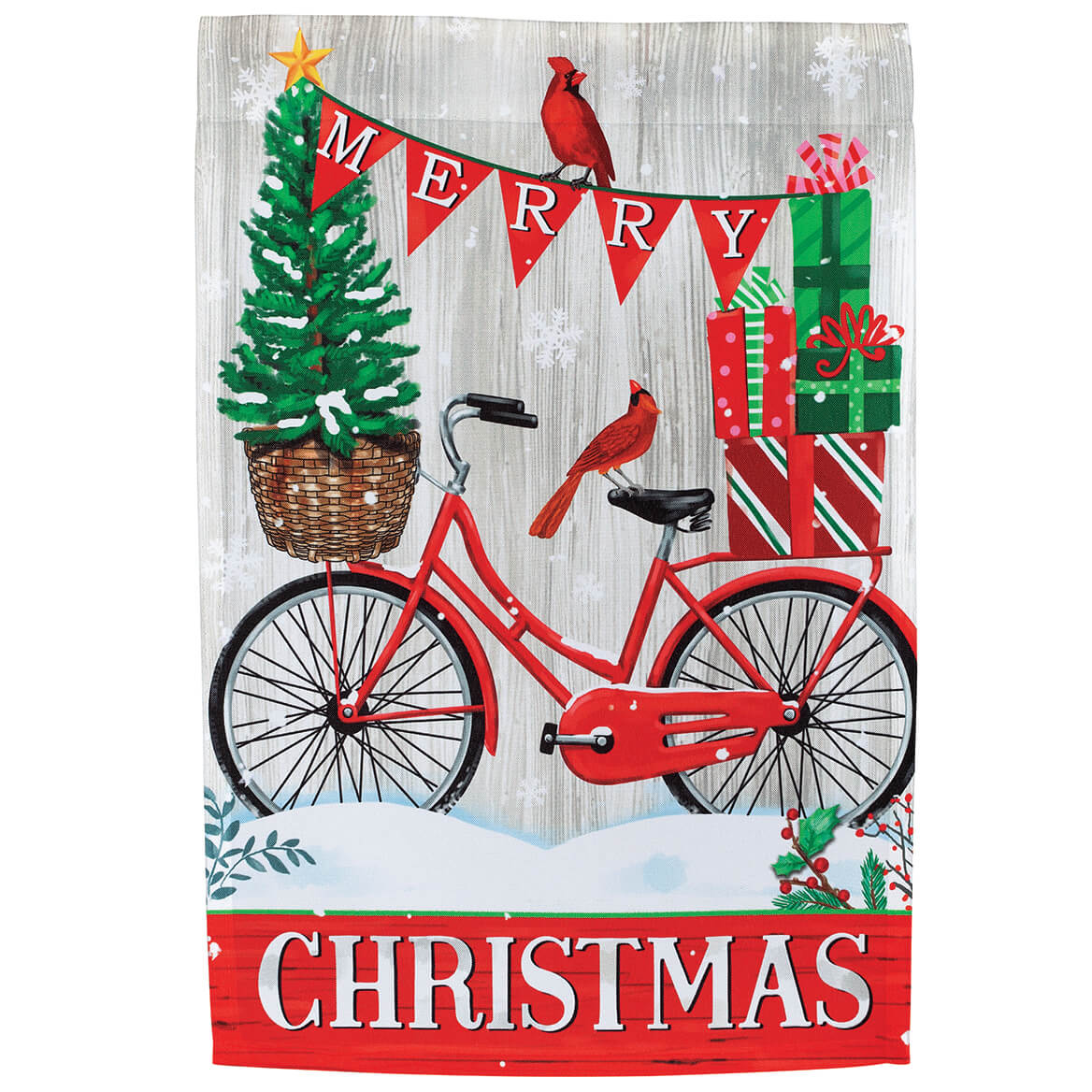 Merry Christmas Bike Garden Flag-370660