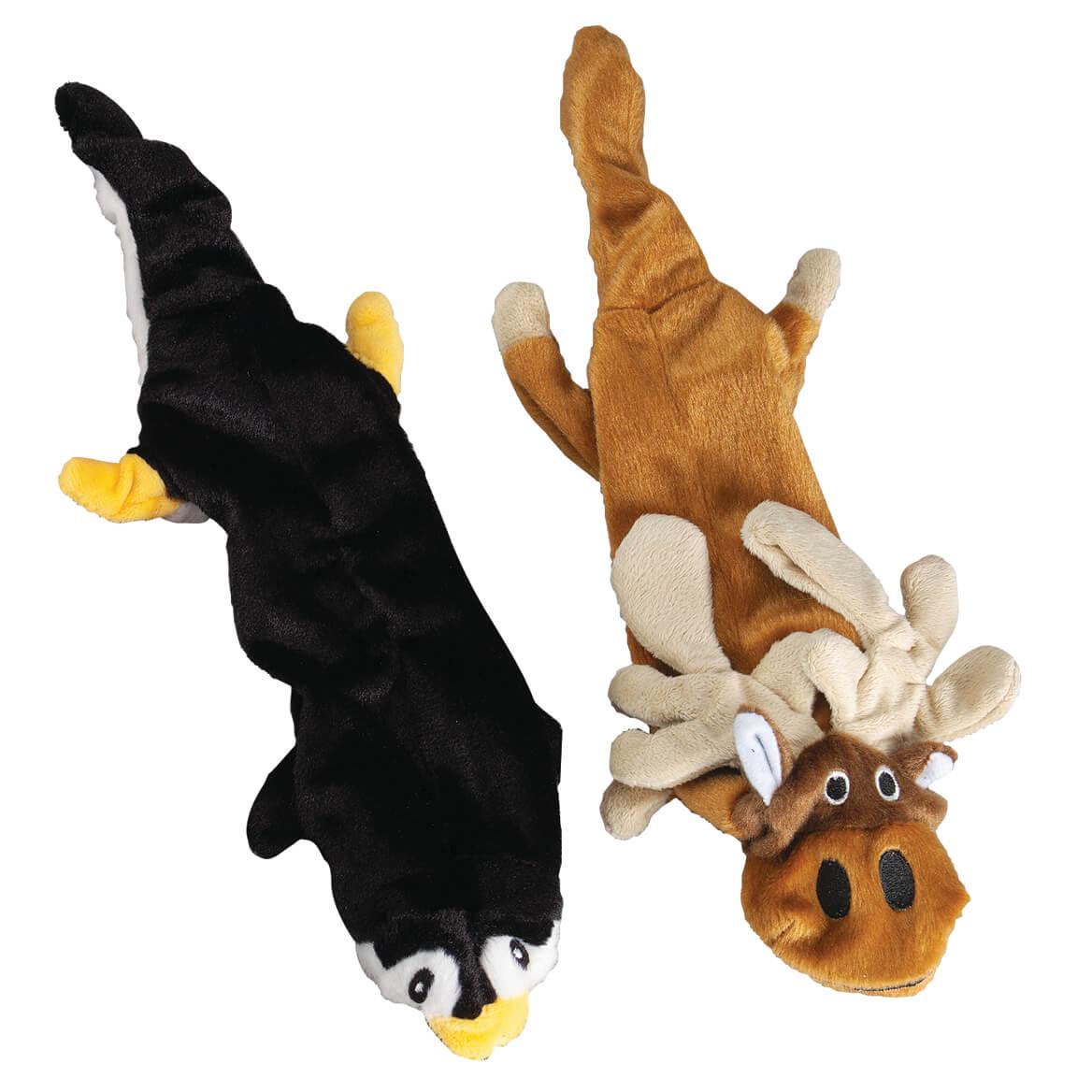 Animal Stuffing Free Dog Toys, Set of 2-370662