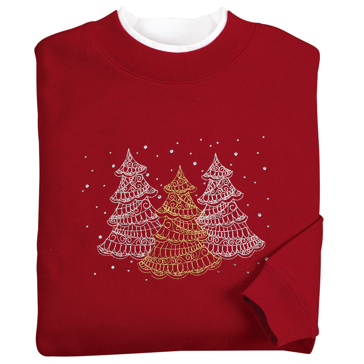 Embellished Winter Tree Scene Sweatshirt by Sawyer Creek™-370678