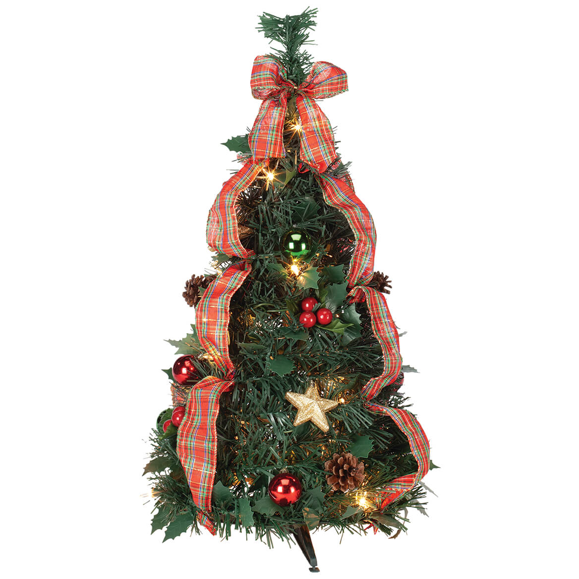 2' Plaid Pull-Up Tree by Holiday Peak™-370701