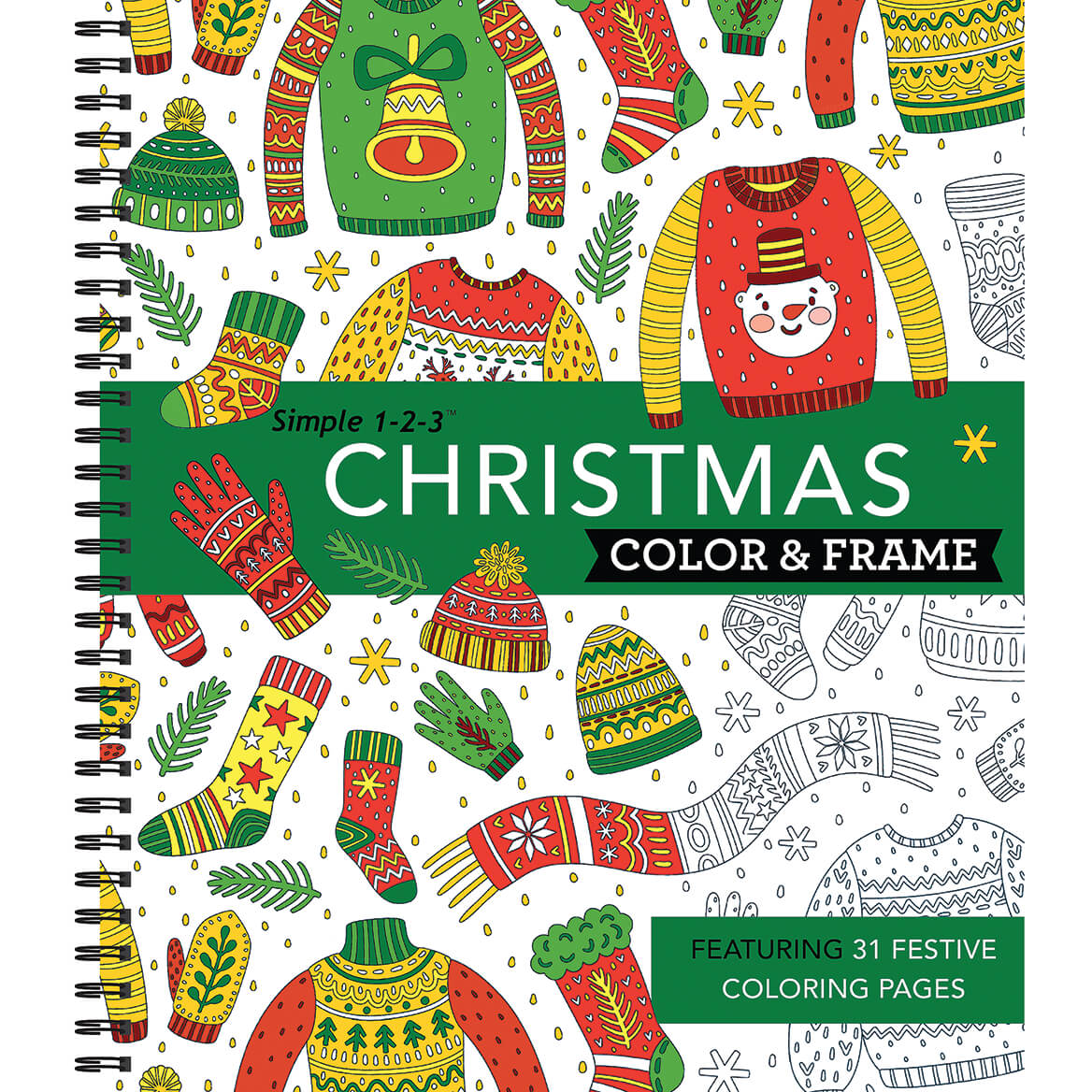 Simple 1-2-3™ Christmas Color & Frame Coloring Book-370737