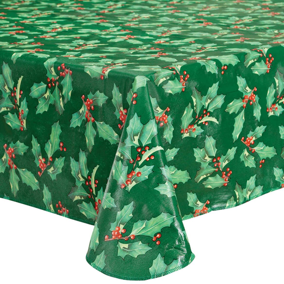 Holly Holiday Vinyl Tablecover-370742