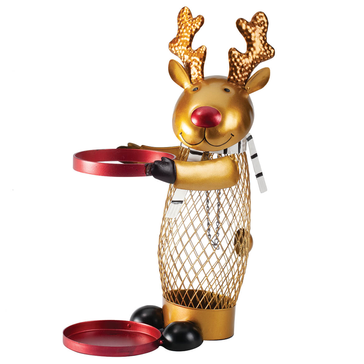 Metal Reindeer Cork and Wine Holder-370886