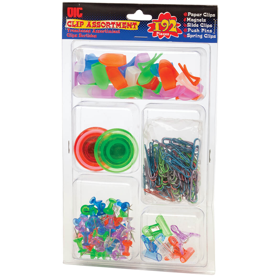Officemate® Clip Assortment 192 Piece-371041