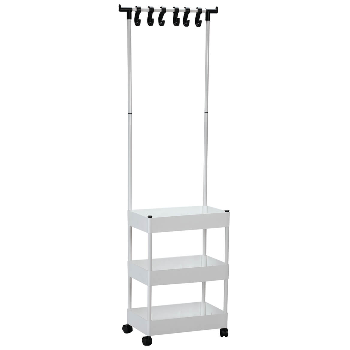 3 Tier Rolling Closet Organizer with Clothes Hanger     XL-371068
