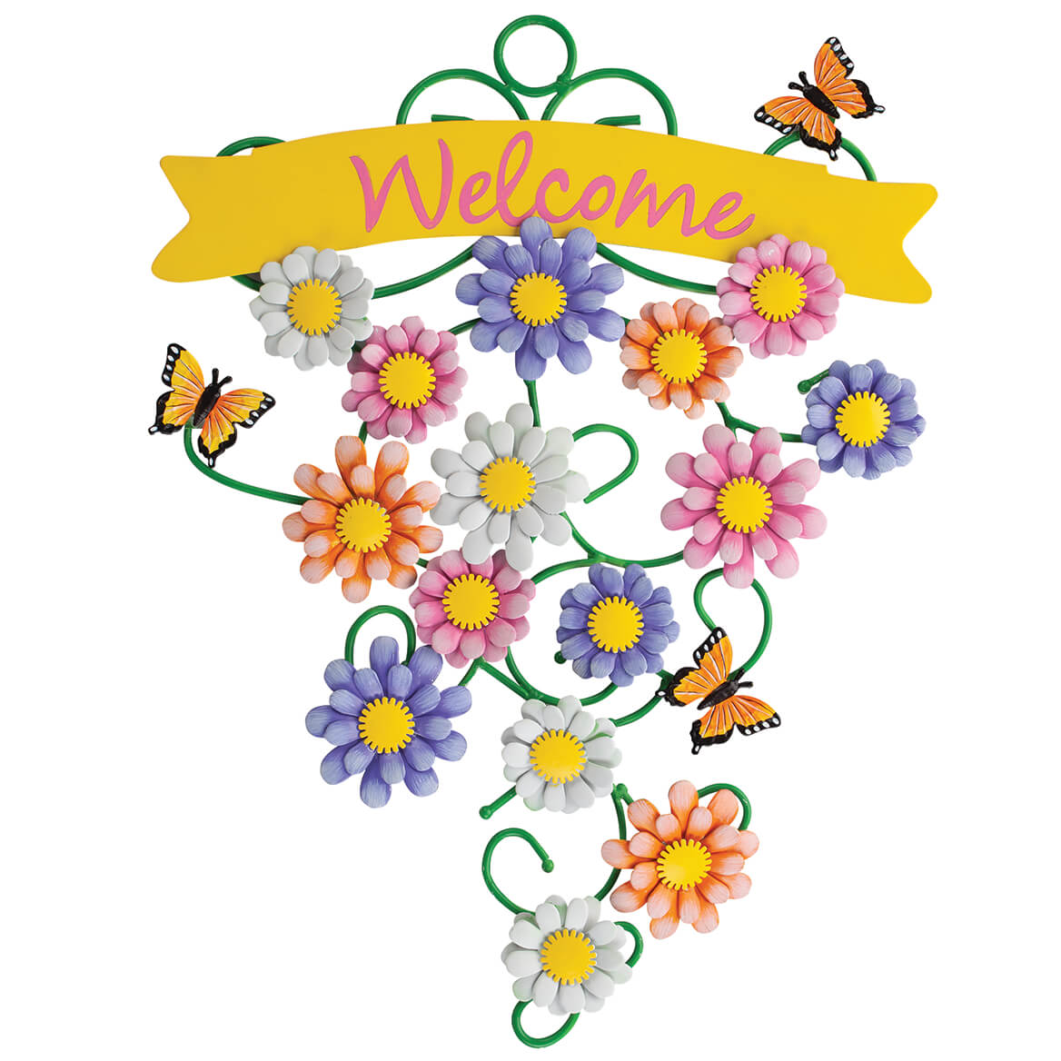 Spring Flowers Metal Welcome Sign by Fox River™ Creations-371183