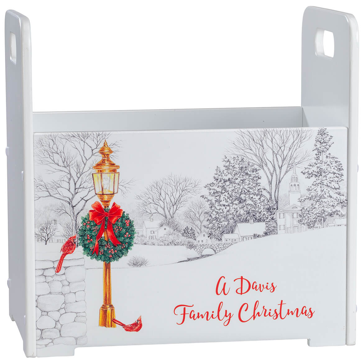 Personalized Christmas Town Tall Caddy-371430