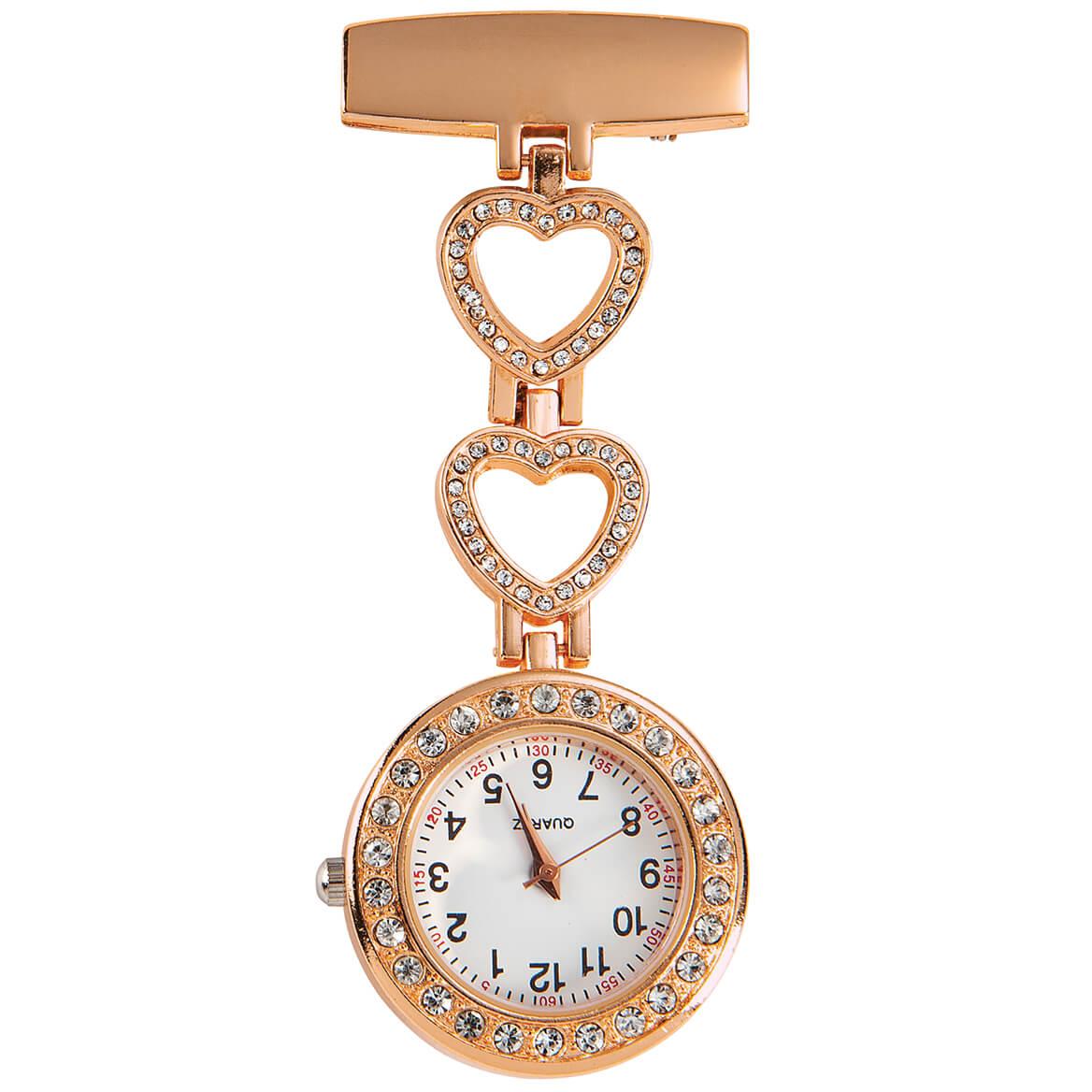 Rhinestone Brooch Hanging Watch-371504