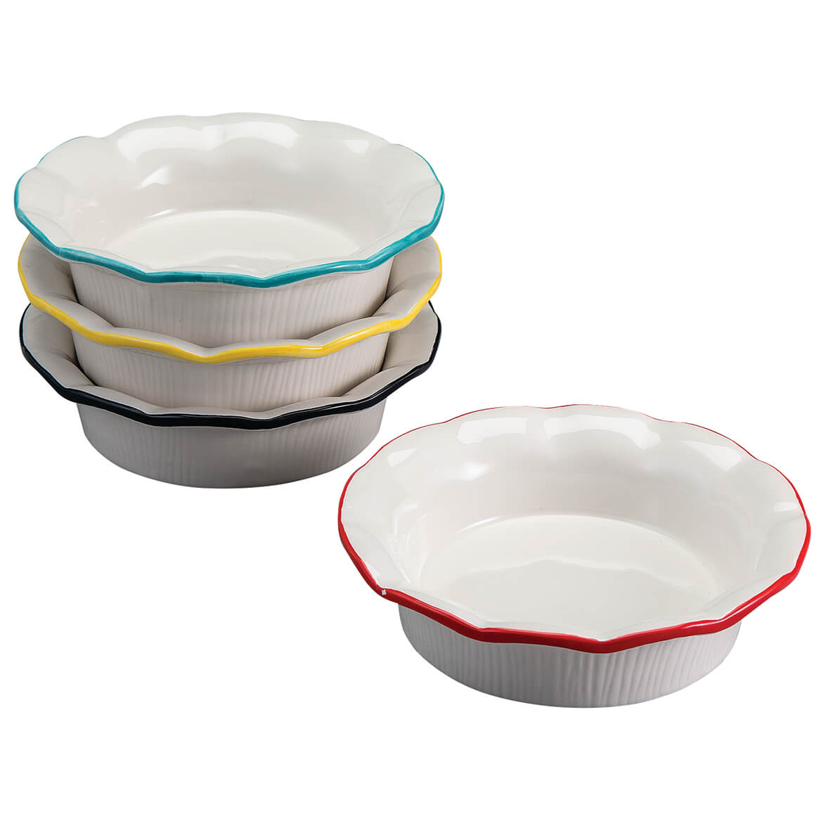 Individual Ceramic Pie Pans, Set of 4-371616