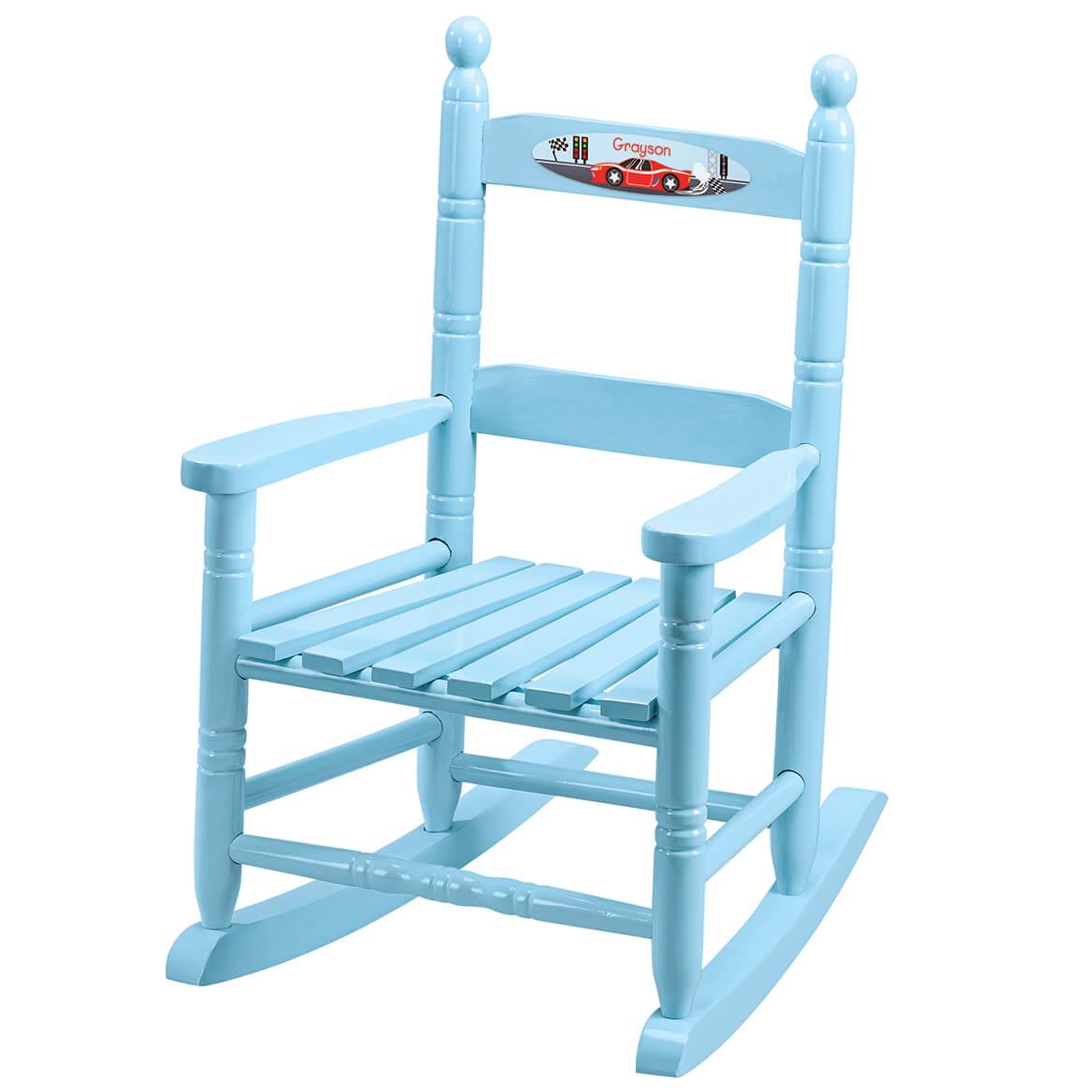 Personalized Racecar Children's Rocking Chair-371716