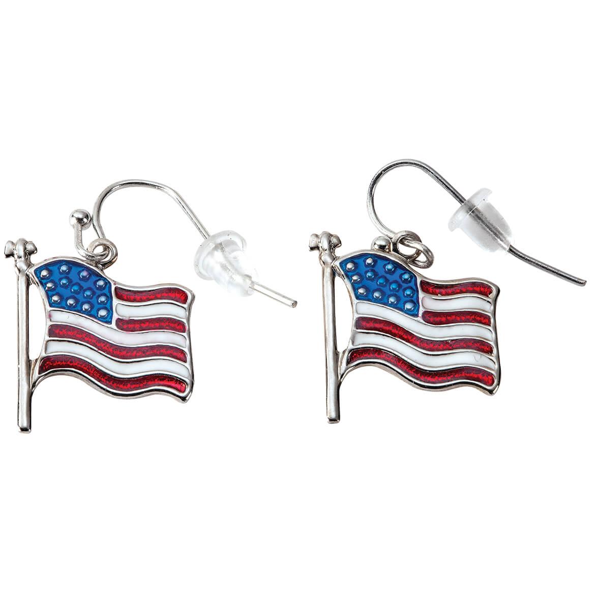 Patriotic Flag Earrings-371853