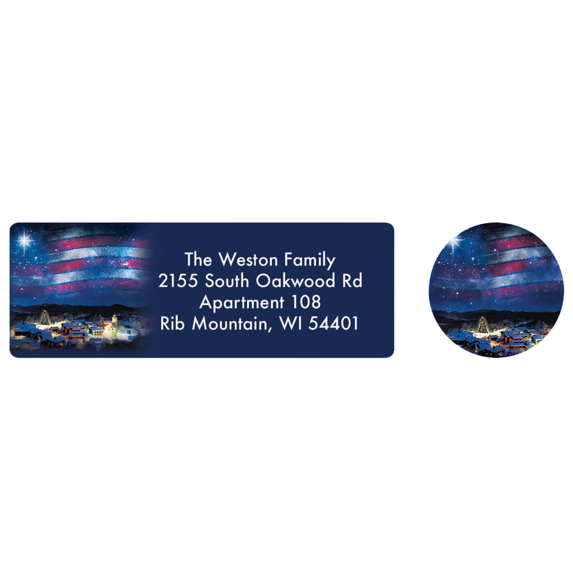 Blessings Across America Address labels and Seals-371879