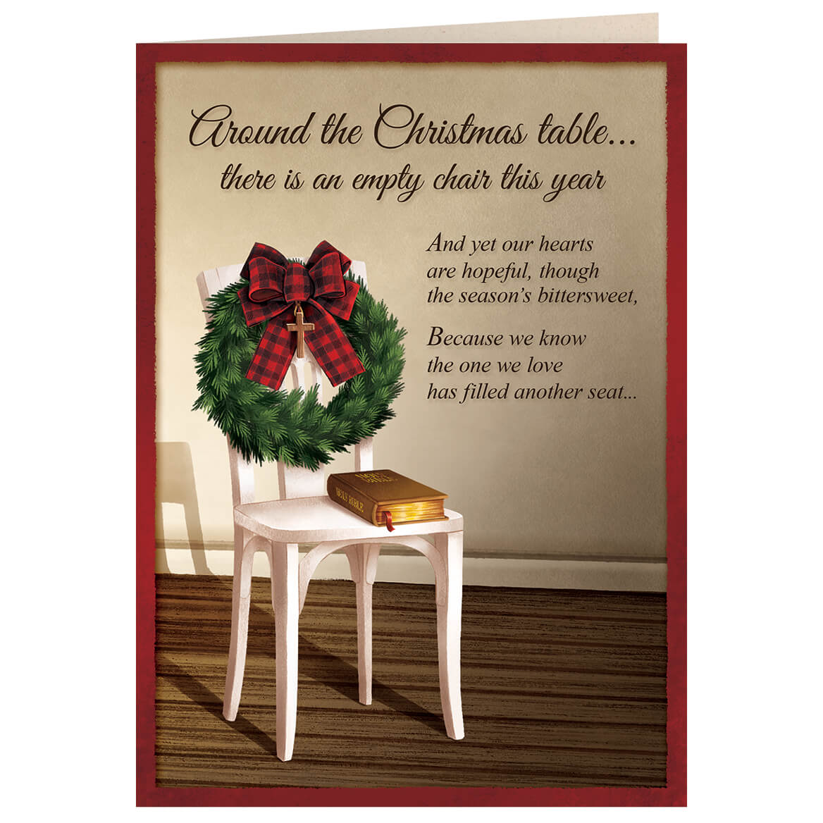 The Empty Chair Christmas Card Set of 20-371906