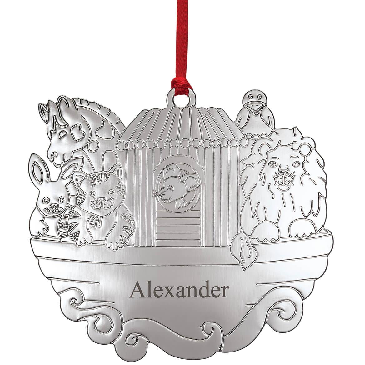 Personalized Silver-Tone Noah's Ark Ornament-371994