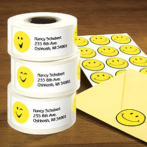 Smiley Face Labels and Seals