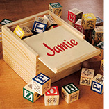 Children's Gifts & Leisure - Personalized Box Of Blocks